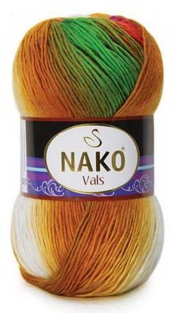 Poze Fir de tricotat sau crosetat - Fire tip mohair din acril premium Nako VALS DEGRADE 86842