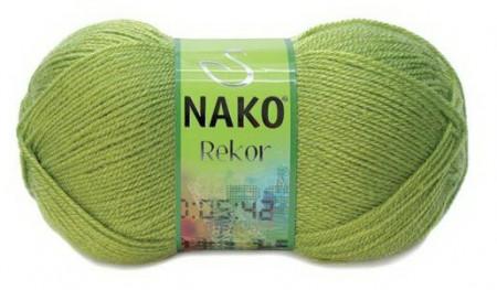 Poze Fir de tricotat sau crosetat - Fire tip mohair din acril premium Nako REKOR KAKI 1291