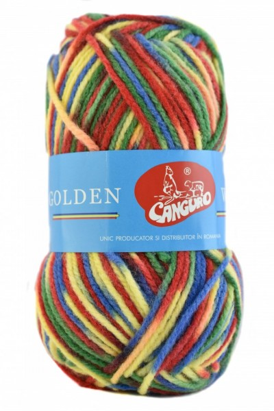 Poze Fir de tricotat sau crosetat - Fire tip mohair din acril si lana GOLDEN WOOL IMPRIMAT - 368