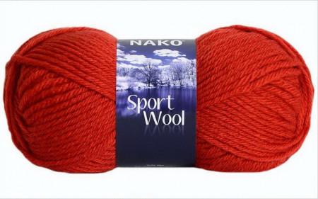 Poze Fir de tricotat sau crosetat - Fire tip mohair din acril si lana Nako Sport Wool portocaliu 10701