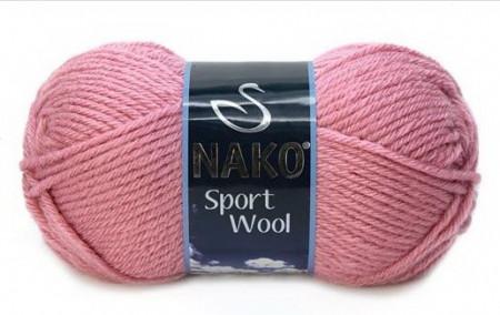 Poze Fir de tricotat sau crosetat - Fire tip mohair din acril si lana Nako Sport Wool ROZ 2276