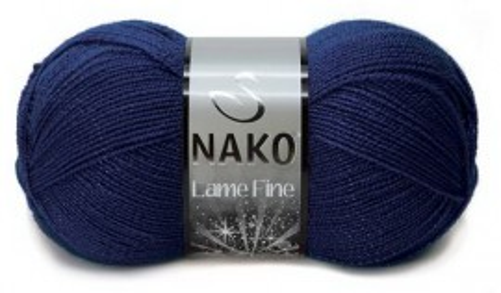 Poze Fir de tricotat sau crosetat - Fire tip mohair din acril si poliester metalic NAKO LAME FINE BLEUMARIN 148P