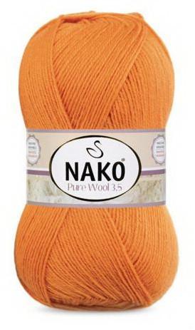 Poze Fir de tricotat sau crosetat - Fire tip mohair din lana 100% Nako PURE WOOL 3,5 PORTOCALIU 6963