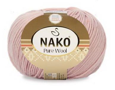 Poze Fir de tricotat sau crosetat - Fire tip mohair din lana 100% Nako PURE WOOL ROZ 10722