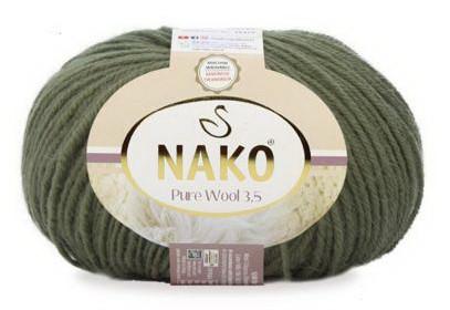 Poze Fir de tricotat sau crosetat - Fire tip mohair din lana 100% Nako PURE WOOL 3.5 KAKI 268