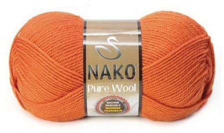 Poze Fir de tricotat sau crosetat - Fire tip mohair din lana 100% Nako PURE WOOL PORTOCALIU 6963