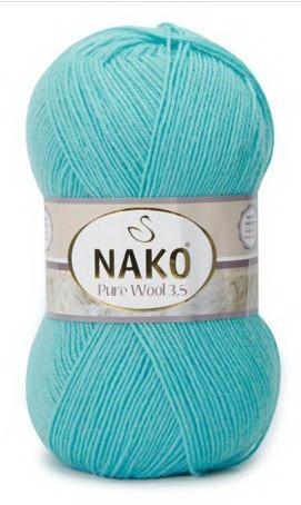 Poze Fir de tricotat sau crosetat - Fire tip mohair din lana 100% Nako PURE WOOL 3,5 BLEO 10705