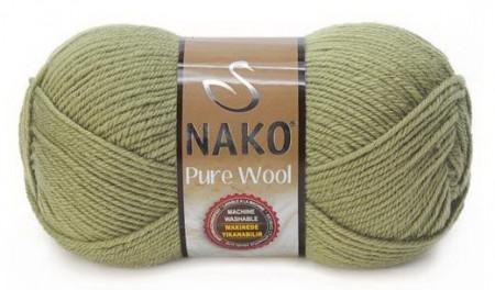 Poze Fir de tricotat sau crosetat - Fire tip mohair din lana 100% Nako PURE WOOL VERDE 268