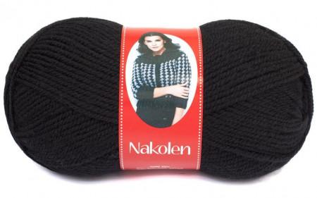 Poze Fir de tricotat sau crosetat - Fire tip mohair din lana 50% si acril 50% Nakolen NEGRU 217