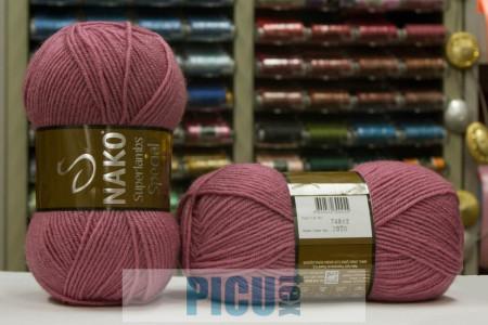 Poze Fir de tricotat sau crosetat - Fire tip mohair din lana 50% si acril 50% Nako Superlambs Special ROZ 2970