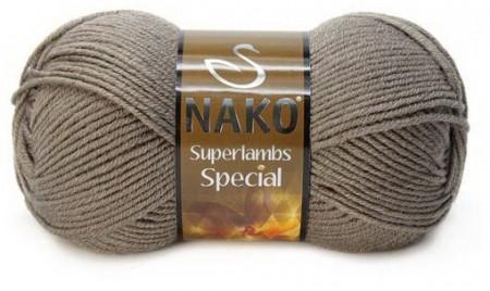 Poze Fir de tricotat sau crosetat - Fire tip mohair din lana 50% si acril 50% Nako Superlambs Special bej 5225
