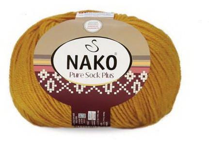 Poze Fir de tricotat sau crosetat - Fire tip mohair din lana si polyamida Nako PURE SOCK PLUS GALBEN 10429
