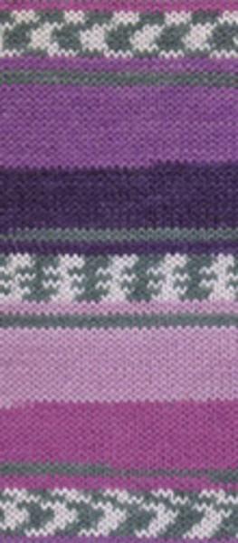 Poze Fir de tricotat sau crosetat - Fire tip mohair din lana si polyamida Nako BOHO mix 81260