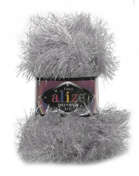 Poze Fir de tricotat sau crosetat - FANCY - ALIZE DECOFUR SIM - ARGINTIU ADS - 21