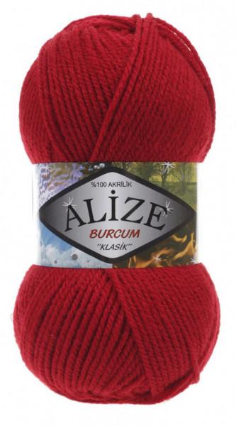 Poze Fir de tricotat sau crosetat - Fir ACRILIC ALIZE BURCUM KLASIK ROSU 106