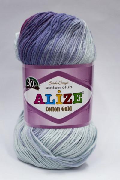 Poze Fir de tricotat sau crosetat - Fir ALIZE COTTON GOLD BATIK - DEGRADE 3686