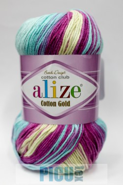 Poze Fir de tricotat sau crosetat - Fir ALIZE COTTON GOLD BATIK - DEGRADE 6519