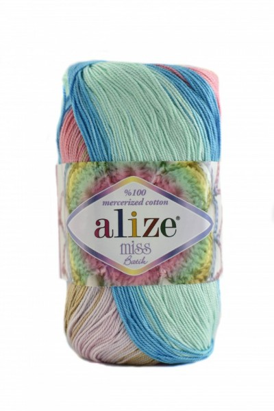 Poze Fir de tricotat sau crosetat - Fir BUMBAC 100% ALIZE MISS BATIK DEGRADE 4535