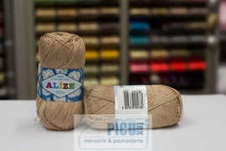 Poze Fir de tricotat sau crosetat - Fir BUMBAC 100% ALIZE MISS BEJ 368