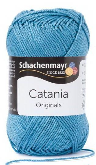 Poze Fir de tricotat sau crosetat - Fir BUMBAC 100% MERCERIZAT CATANIA KACHELBLAU 380