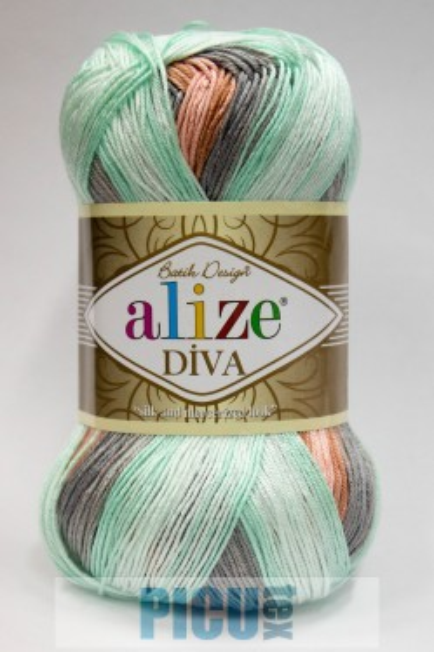 Poze Fir de tricotat sau crosetat - Fir microfibra ALIZE DIVA BATIK DEGRADE 5550
