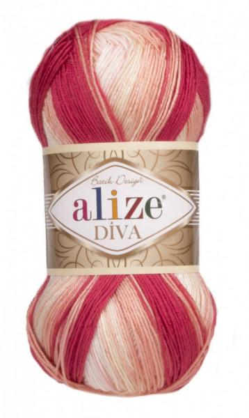 Poze Fir de tricotat sau crosetat - Fir microfibra ALIZE DIVA BATIK DEGRADE 7106