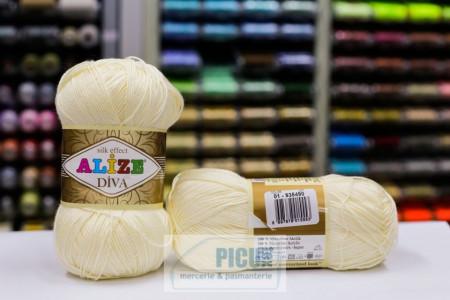 Poze Fir de tricotat sau crosetat - Fir microfibra ALIZE DIVA CREAM 01
