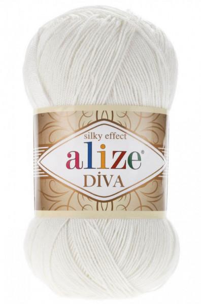 Poze Fir de tricotat sau crosetat - Fir microfibra ALIZE DIVA CREM 450