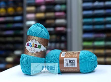 Poze Fir de tricotat sau crosetat - Fir microfibra ALIZE DIVA STRETCH BLEO 376