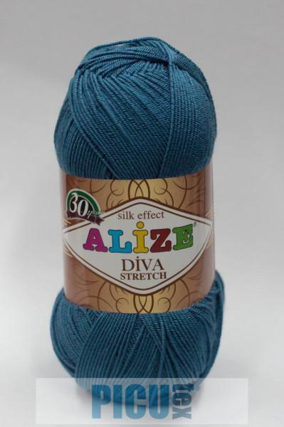 Poze Fir de tricotat sau crosetat - Fir microfibra ALIZE DIVA STRETCH ALBASTRU 353