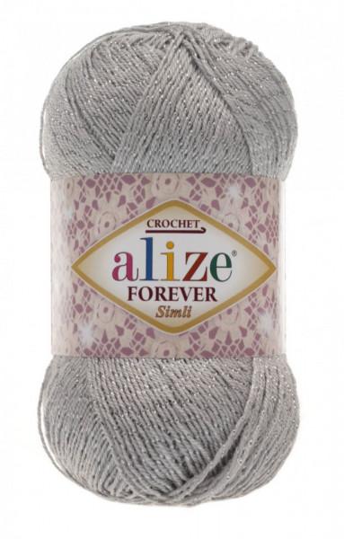 Poze Fir de tricotat sau crosetat - Fir microfibra ALIZE FOREVER SIMLI GRI 52