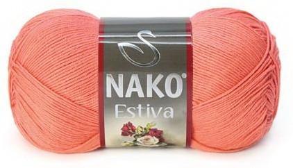 Poze Fir de tricotat sau crosetat - Fire amestec Bumbac + Bambus NAKO ESTIVA CARAMIZIU 3278