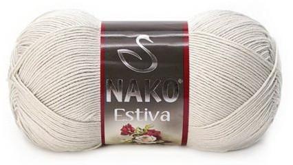 Poze Fir de tricotat sau crosetat - Fire amestec Bumbac + Bambus NAKO ESTIVA BEJ 10874
