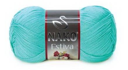 Poze Fir de tricotat sau crosetat - Fire amestec Bumbac + Bambus NAKO ESTIVA VERNIL 10873