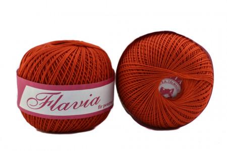 Poze Fir de tricotat sau crosetat - Fire Bumbac 100% FLAVIA ROMANOFIR BOBINA ROSU 1332