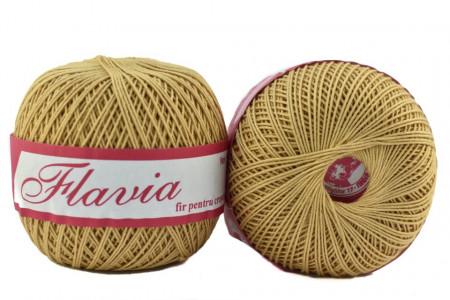 Poze Fir de tricotat sau crosetat - Fire Bumbac 100% FLAVIA ROMANOFIR BOBINA BEJ 6P