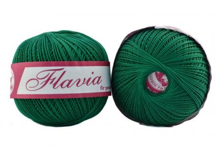 Poze Fir de tricotat sau crosetat - Fire Bumbac 100% FLAVIA ROMANOFIR BOBINA VERDE 1252