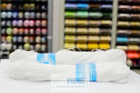 Poze Fir de tricotat sau crosetat - Fire Bumbac 100% MACRAME ROMANOFIR SCUL ALB 1202