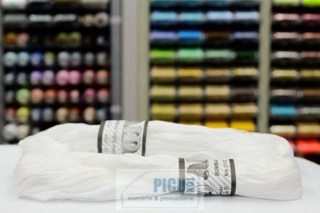 Poze Fir de tricotat sau crosetat - Fire Bumbac 100% mercerizat AIDA ROMANOFIR SCUL ALB 1202