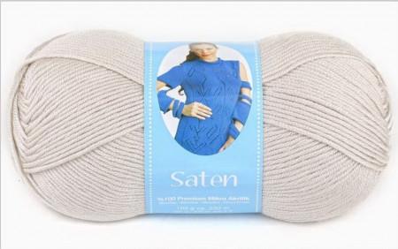 Poze Fir de tricotat sau crosetat - Fire Nako SATEN GRI DESCHIS 6690