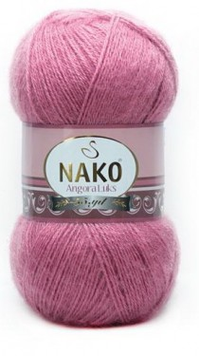 Poze Fir de tricotat sau crosetat - Fire tip mohair acril NAKO ANGORA LUKS ROZ 6682