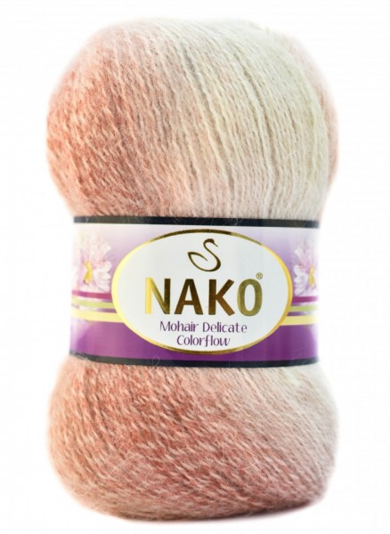 Poze Fir de tricotat sau crosetat - Fire tip mohair acril NAKO MOHAIR DELICATE COLORFLOW DEGRADE 28090