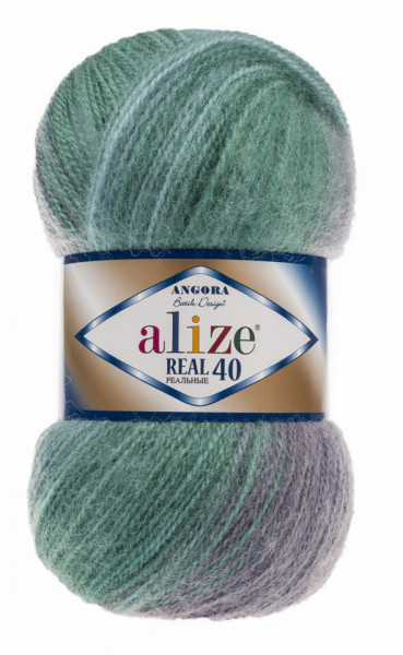 Poze Fir de tricotat sau crosetat - Fire tip mohair din acril Alize Angora Real 40 Batik degrade 6915