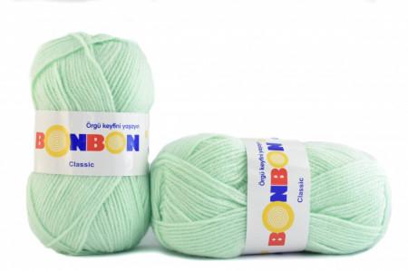 Poze Fir de tricotat sau crosetat - Fire tip mohair din acril BONBON CLASIC VERNIL 98329