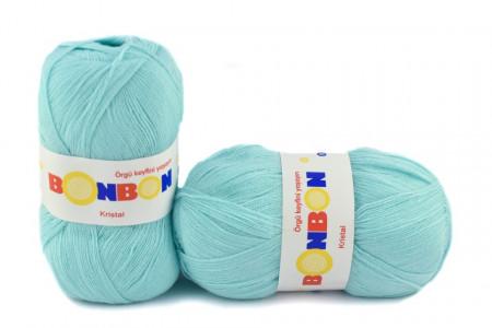 Poze Fir de tricotat sau crosetat - Fire tip mohair din acril BONBON KRISTAL turcoaz 98203