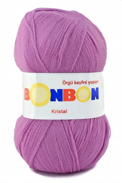 Poze Fir de tricotat sau crosetat - Fire tip mohair din acril BONBON KRISTAL lila 98261