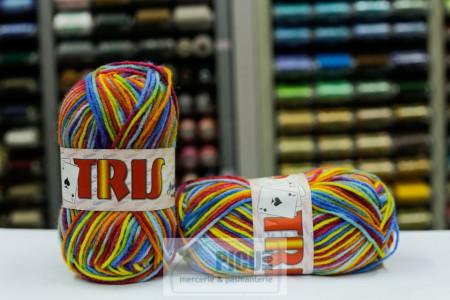 Poze Fir de tricotat sau crosetat - Fire tip mohair din acril CANGURO - TRIS IMPRIMAT DEGRADE 351