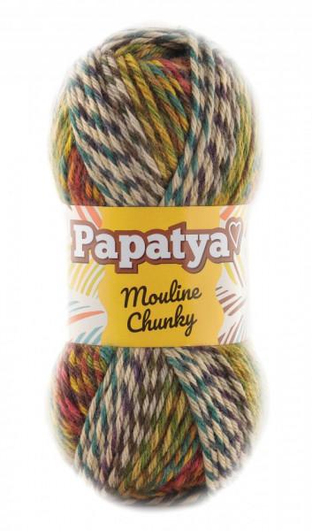 Poze Fir de tricotat sau crosetat - Fire tip mohair din acril Kamgarn Papatya Mouline Chunky Degrade 3543