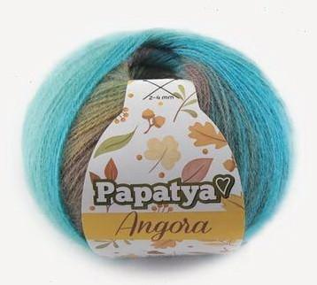 Poze Fir de tricotat sau crosetat - Fire tip mohair din acril Kamgarn Papatya Angora degrade 81