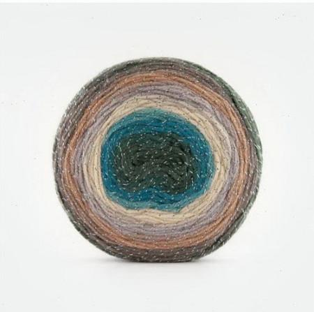 Poze Fir de tricotat sau crosetat - Fire tip mohair din acril Kamgarn Papatya CAKE SILVER degrade 309